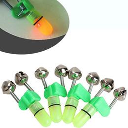led light fishing rods Australia - Wholesale- 4Pcs Led Fishing Rod Bite Alarm Red Green Light Twin Bells Clip Fishing Alerter