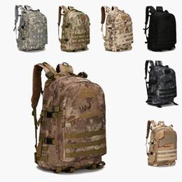 Wholesale Military Bag Hiking - Outdoor Sports 40L 3P Military Tactical Backpack Oxford Waterproof Camouflage Camping Bag Hiking Bag Rucksacks Trekking Bag Should Bags