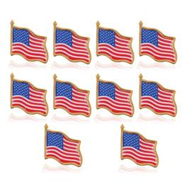 Perno online-10 pezzi bandiera americana spilla Stati Uniti USA cappello tie puntina distintivo pin alta qualità vendite calde design personalizzato perni di incisione in metallo