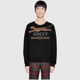 Marca para hombre con capucha online-diseñador de moda de marca de lujo para hombre con capucha terry sudaderas con capucha carta Europa Italia sudadera con capucha de leopardo Jumpers