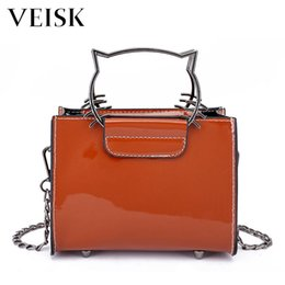 9670dbba29c8 Discount o bag handbag - VEISK Cat Chains Women Handbags Women s Bags 2018  Female Small Pu