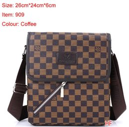 Wholesale mens leather messenger - Famous Brand Leather Men Bag Briefcase Casual Business Leather Mens Messenger Bag Vintage Men's Crossbody Bag bolsas male wallets