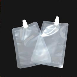 Paquete de bebida online-500 unids / lote 300 ml de plástico de la bolsa de empaquetado de la bebida del canalón de la bolsa para la bebida café líquido de la leche T2I077