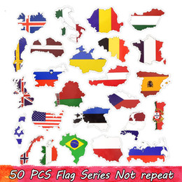 50 стран национальный флаг наклейка для футбольных болельщиков наклейки путешествия случае ноутбук наклейки от