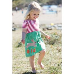 Wholesale Girls Floral Ruffle Shorts - Fashion Baby Princess Dress Animal Cotton Girls Patchwork Dress Children Clothing 2018 Brand Kids Summer Dresses for Girls Clothes