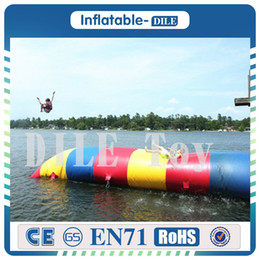 Wholesale Toy Bag Pvc - Free Shipping 5x2m Inflatable Water Blob Jumping Pillow Water Blob Jumping Air Bag Inflatable Trampoline For Sale