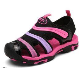 Zapatos nuevos de oruga online-Longitud de la plantilla 15-23 cm 6-13 años Moda Nuevos Sandalias para niña para niños Boy Baotou Soft Summer Kids Caterpillar Shoes