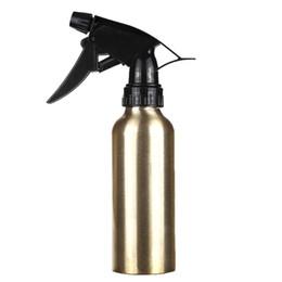 Aluminum sprayer online-spray 200ml 200ml Oro Aluminio Aerosol Agua Botella vacía Hair Salon Pro Peluquería Pulverizador Atomizador Botella recargable Peluquero Herramientas de peinado