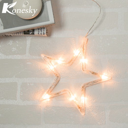 Wholesale Christmas Window Star Lights - LED Lamp Christmas Decoration Star Tree Bell Sahpe with Sucker Christmas Tree Festive Lamp for Glass Window indoor Night light