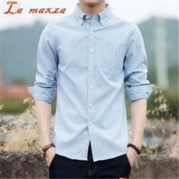 f3c75a51ac5 2018 Spring New Arrival Long Sleeve Big Size Shirt Mens Business Casual  Style Slim Mens Shirts