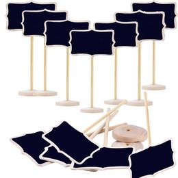 Holz Mini Chalkboards Schilder mit Ständern, Tischkarten, kleine Tafeln Tafel für Hochzeiten, Geburtstagsfeiern, Message Board Signs von Fabrikanten