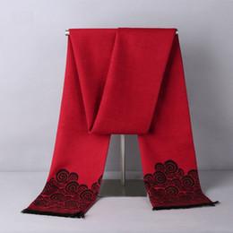 Meilleurs foulards de noël en Ligne-Echarpe longue en soie 100% pure Mulberry hiver hiver 178 * 30 cm avec velours, foulard chaud comme meilleur cadeau de Noël