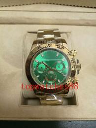 Wholesale Good Mechanical Watches - 2018 AAA good choice 40MM automatic movement gentlemen mens watch watches wristwatch green dial gold watchband gift