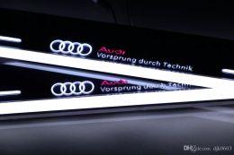 Audi q5 дверь онлайн-Педаль scuff Сид moving светлая для Audi Q5 2010-2015 акриловая педаль гостеприимсва Силла двери Сид