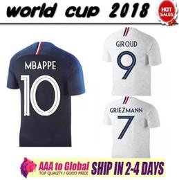 Wholesale Thailand Jerseys - Thailand Maillot de foot GRIEZMANN 7 POGBA MBAPPE 12 Soccer jerseys 2018 world cup MARTIAL FEKIR 8 Jersey football kits MATUIDI soccer shirt