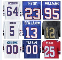 Wholesale Olive S - Buffalo LeSean McCoy Bills jerseys Tyrod Taylor Tre'Davious White green anthracite olive salute to service american football jersey cheap 4x