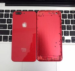 Wholesale rear side - For iPhone 6 6S 7 Plus Full Red Back Housing to iPhone 8 Style Metal Glass Rear Cover with Side Keys Like 8+