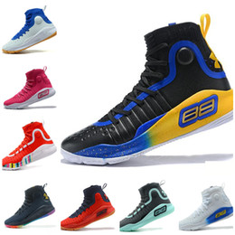 Wholesale clear dot - 2018 Stephen Curry 4 Basketball steph Mens Curry 4 Gold Championship MVP Finals Sports training Sneakers Run Shoes Size 40-46