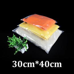 Wholesale Double Slider - 30x40cm 0.12mm double sides clear PE plastic packaging resealable slider zip garment duffel bag