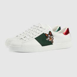 2018 Новый Прекрасный собака вышитые низкий топ Повседневная обувь для мужчин женщин мода 2 стиль белый кожаный ананас кроссовки с Обувь коробка supplier pineapple style от Поставщики ананасовый стиль