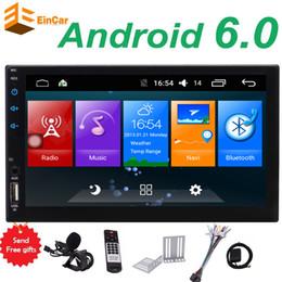 Doppel-din auto gps online-EinCar Android 6.0 Quad Core Auto Stereo Doppel-Din-Kopfeinheit 7 '' Touchscreen GPS-Navigation Bluetooth Autoradio WIFI AUX USB FM