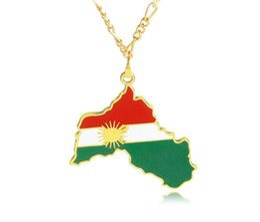 2019 patriotische anhänger 2019 neue Kurdistan Karte Und Flagge Anhänger Halskette Gold Farbe Schmuck Land Karten Patriotischen Nationalen Tagesgeschenk günstig patriotische anhänger