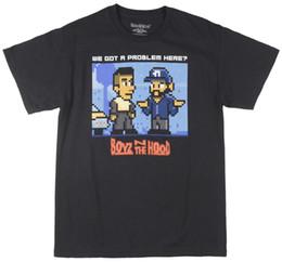 Problemas negros online-Boyz en el Hood Pixel Problem Camiseta para hombre negro para hombre 2018 moda marca camiseta Tops O-cuello 100% algodón para mujer camiseta Tops camiseta personalizada