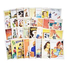 Wholesale Greeting Card Packs - 32 Pcs pack Vintage Old memory Postcard Fashion Christmas Gift Postcard Birthday Greeting Card Lovely Greeting Cards