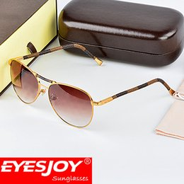 Wholesale Wood Legs Square - fashion luxury sunglasses brand designer lens logo square metal frame wood legs vintage style outdoor classical model top quality with box