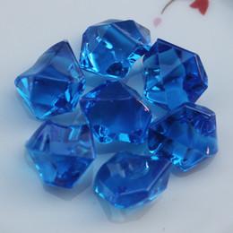 Акриловые ледяные кристаллы онлайн-19 * 25 мм ВАЗа декоративные акриловые Кристалл драгоценный камень 100 шт. Лед скалы стол центральным scatter для партии ВАЗа наполнитель