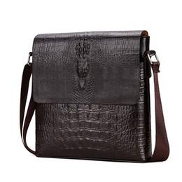 Wholesale Crocodile Patterns - 2017 New Men's Alligator Pattern Flap Shoulder Bags For Men Messenger Bag Business Crossbody Bag Crocodile bolsa feminina