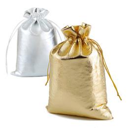 25pcs lot Petit Sac de Bijoux Bijoux Emballage Petits Sacs Cadeaux dargent Feuille dor Sac en Tissu de Velours 7x9cm 9x12cm 10x15cm Drawstring Mariage Sacs et Pochettes Cadeaux,Argent.