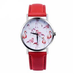 2019 vogue watches Uhren Frauen Männer Mode Flamingo Gedruckt Lederband Analog Quarz Armbanduhr Frauen 2018 Vogue Damen Casual Uhr rabatt vogue watches