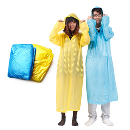 raincoats for men Promo Codes - Solid Adult Rain Covers Rainwear One-Time Emergency Waterproof Cloth Raincoat Rain Covers For Women Men