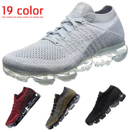Wholesale Mens Leather Walking Shoes - New Vapormax Mens Running Shoes For Men Sneakers Women Fashion Athletic Sport Shoe Hot Corss Hiking Jogging Walking Outdoor Shoe 899473-003