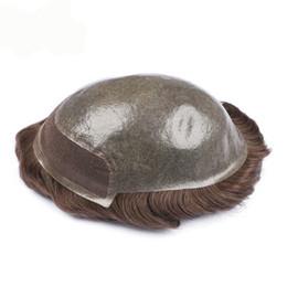 Toupee hommes avant de lacet, perruque de cheveux, Indien remy cheveux 8X10 taille Cheveux Prothèse Prothèse capillaire Livraison gratuite ? partir de fabricateur