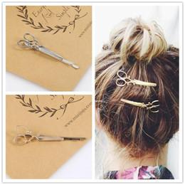 scherenstifte Rabatt Mode Schere Form Haarspange - 1 Stück Frauen Dame Mädchen Golden Silbrig Haarnadel Headwear - Haarschmuck Dekorationen