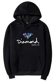 S logo diamond on-line-2018 Diamante Co Fornecimento Quente Hoodies Dos Homens Clássico Fundação Logotipo Do Diamante Hoodies Cinco Cores diferentes Com Bolso