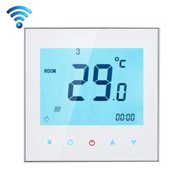 Wholesale Room Thermostats - 220V3A Phone Remote Controller Touchscreen LCD Display WIFI Programmable Thermostat Computer APP Room Floor Heating Temperature
