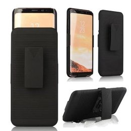 Note custodia porta kickstand online-Holster Case Clip Kickstand Hard PC Armor per Iphone XR XS MAX X 8 7 6 per Galaxy Note 8, S8
