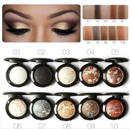 Wholesale noble diamonds - Focallure 10 Colors Eyeshadow Pallete Noble Metal Diamond Pearl Eye Shadow Makeup Cosmetic Palette Roast maquiagem