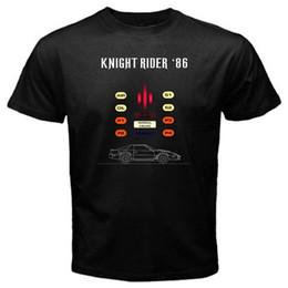 Wholesale newest movies - Newest 2018 Knight Rider 86 kitt JDM japan tv movie eighties mazda T-Shirt Black Cartoon tee shirt homme high quality top tees