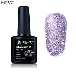 brilho uv gel polonês Desconto 10 ml Diamante Gel Unhas Glitter LED UV Gel Manicure Lantejoulas Brilhantes Soak Off Gel Unha Polonês Vernis Gellak Semi Permanente