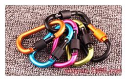broche de rosca Rebajas Forma de aleación de aluminio multicolor 7.8CM mosquetón al aire libre cerradura de tornillo Hebilla Snap clip mochila colgante llavero gancho
