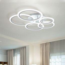 Moderna plafoniere a led per lampada da salotto led camera da letto ciambelle incontro strisce illuminazione interna lampada da soffitto paralume in acrilico da illuminazione industriale rgb fornitori