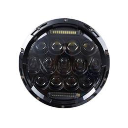Phares halo en Ligne-Phares de halo de phare de 7 pouces haut / bas H4 LED phare rond automatique 7inch avec l'oeil angulaire DRL pour le jeep Wrangler le défenseur HK JJ TJ CJ