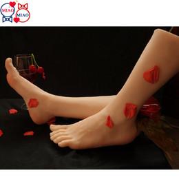2019 echte puppe fertigen besonders an Echte Haut Sex Dolls japanische Masturbation voller Silikon Lebensgröße gefälschte Füße Modell Fußfetisch Spielzeug sexy Spielzeug Liebespuppe