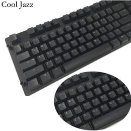 Wholesale Oem Cooler - Cool Jazz Double-shot Black Thick PBT ANSI Korean layout 108 backlit Keycaps OEM Profile Keycap For MX Mechanical Keyboard