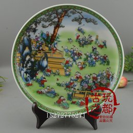 Wholesale Blue White Antique Porcelain - Antique collection of Ming and Qing Dynasties Jingdezhen blue and white porcelain to do the old wind hundred sub - plate Decorat