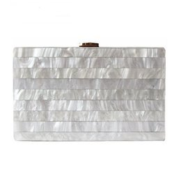 Wholesale elegant evening clutch bags - 2018 Brand woman's evening Clutch new unique Marble Striped Shoulder Bag elegant wallet Fashion Acrylic bolsa feminina handbag